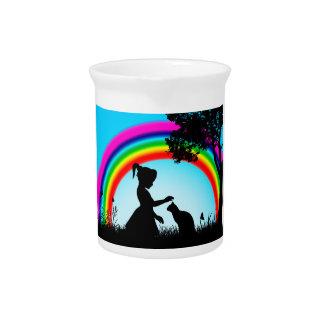 Friends under the Rainbow Drink Pitchers