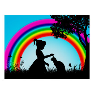 Friends under the Rainbow Poster