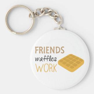 Friends Waffles Work Keychain