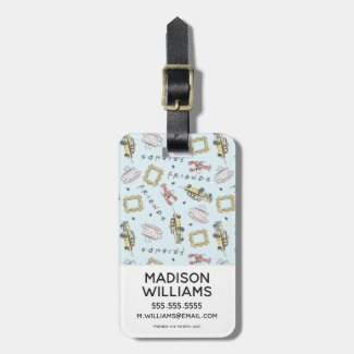 FRIENDS™ Watercolor Icons Pattern Luggage Tag