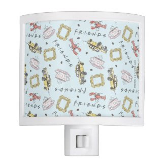FRIENDS™ Watercolor Icons Pattern Night Light