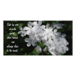 Friends, white flowers picture card