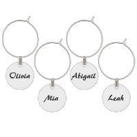 Wine Glass Charms & Tags<