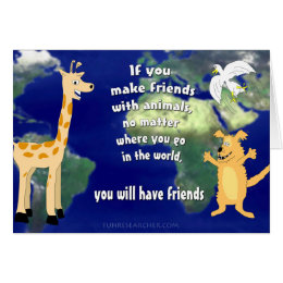 Friends with Animals Card