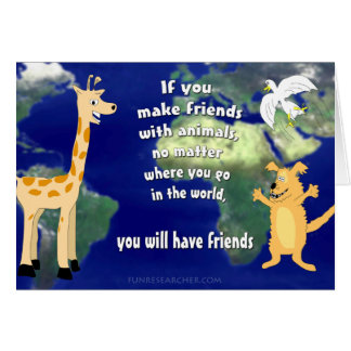Friends with Animals Greeting Card