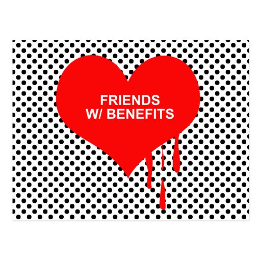FRIENDS WITH BENEFITS POSTCARD