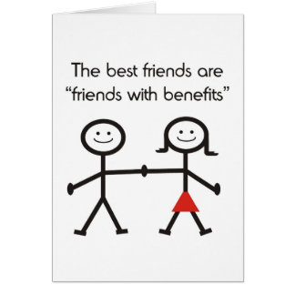 Friends With Benefits Stationery Note Card