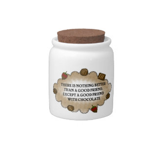 Friends With Chocolate Candy Jar