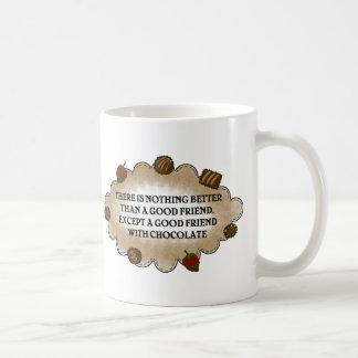 Friends With Chocolate Classic White Coffee Mug
