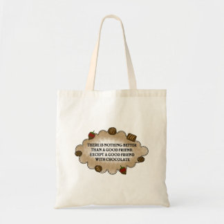 Friends With Chocolate Tote Bag