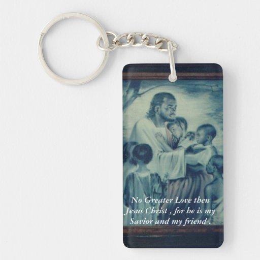 Friends with Jesus Rectangular Acrylic Key Chains