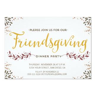 Friendsgiving dinner invitation