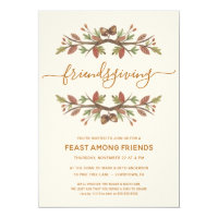 FRIENDSGIVING DINNER INVITE | THANKFUL FOLIAGE