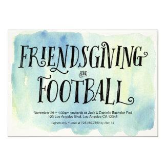 Friendsgiving e invitación de la cena del fútbol