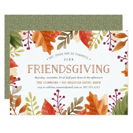 friendsgiving feast thanksgiving dinner invitation zazzle com