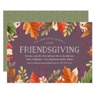 Friendsgiving Feast Thanksgiving Dinner Invitation at Zazzle