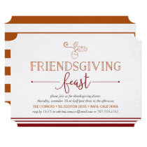 Friendsgiving Feast Thanksgiving Dinner Invitation