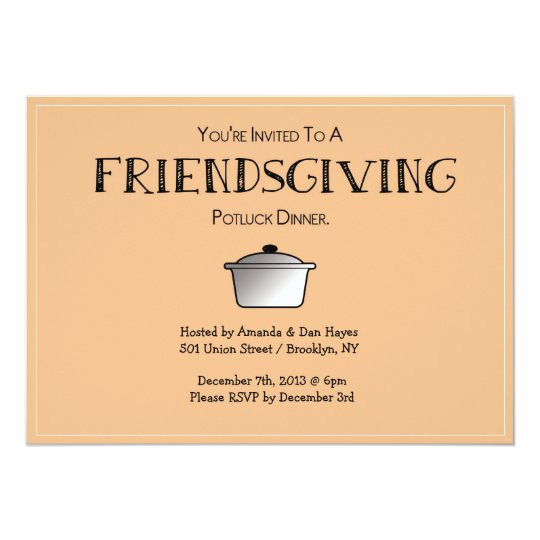 friendsgiving invitation customizable invitation zazzle com