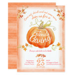 Friendsgiving Pumpkin Watercolor Art Invitations at Zazzle