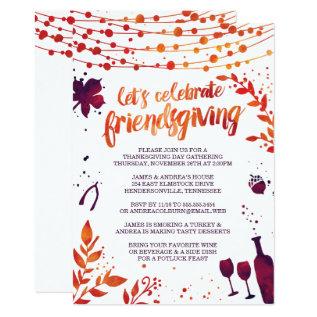 Friendsgiving Thanksgiving Dinner Card at Zazzle