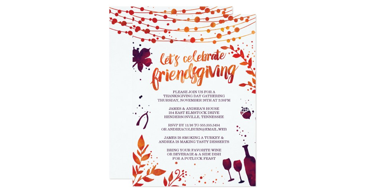 Thanksgiving Invitations | Zazzle