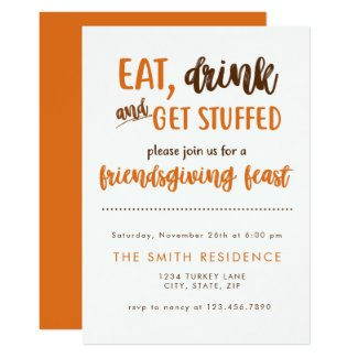 Friendsgiving Thanksgiving Dinner Feast Potluck Invitation