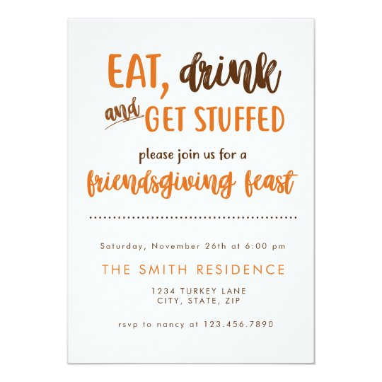 friendsgiving thanksgiving dinner feast potluck invitation zazzle com