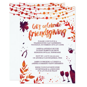 Friendsgiving Invitations Zazzle