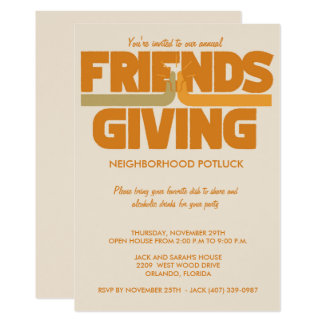 Friendsgiving Thanksgiving Party Invitation