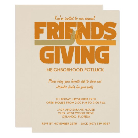 friendsgiving thanksgiving party invitation zazzle com