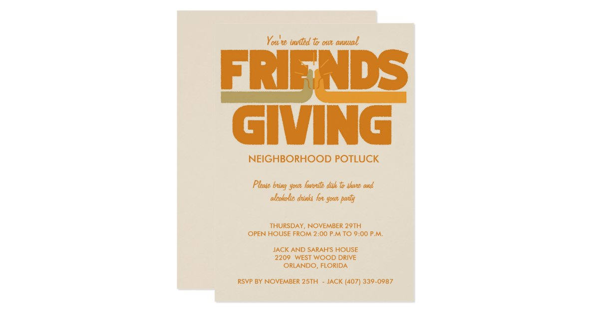 Friends Thanksgiving Invitations & Announcements | Zazzle