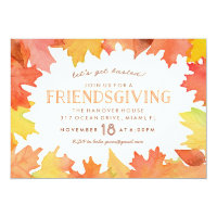 Friendsgiving Watercolor Invitation