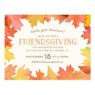 Friendsgiving Watercolor Invitation Postcard