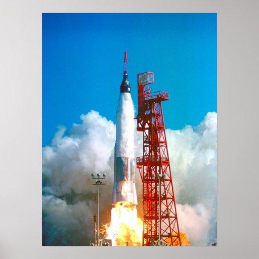 Friendship 7 (Mercury Atlas 6) Launch Print