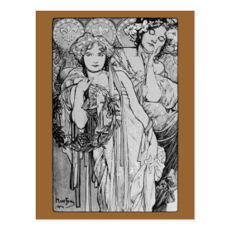 Friendship ~ Alphones Mucha  ~ 1904 Postcard