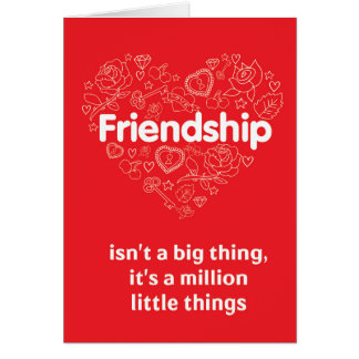 Friendship amazing quote red greeting card