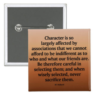 Friendship and Character Button