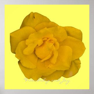 Friendship and Joy Yellow Rose Art Print
