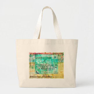 Friendship and LOVE quote JANE AUSTEN Large Tote Bag
