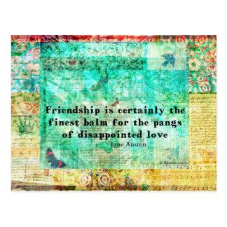 Friendship and LOVE quote JANE AUSTEN Postcard