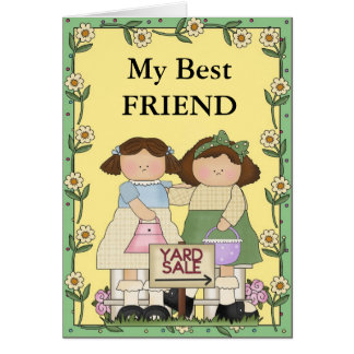 Friendship and Yard sales Card