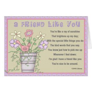 Friendship Appreciation Greeting Card