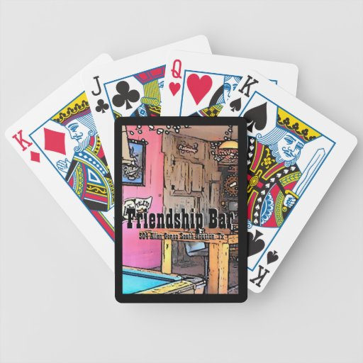 Friendship Bar Playing Cards