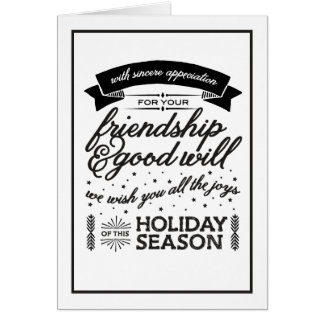 Friendship Black & White Card