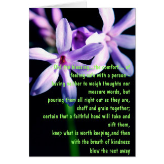 Friendship Blessing Poem Greeting Cards