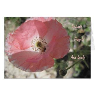 Friendship Card: Delicate Poppy Card