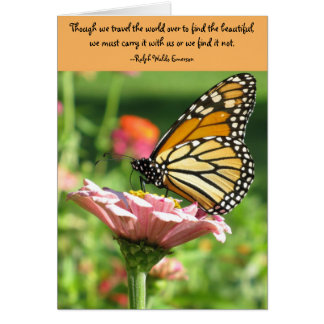 Friendship card--Emerson Quote Card