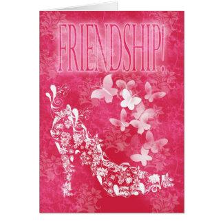 Friendship Card flower shoe and butterflies