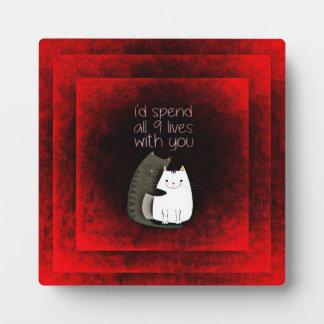 Friendship Cats Plaque
