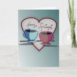 Friendship Coffee Cups Valentine's Day Card